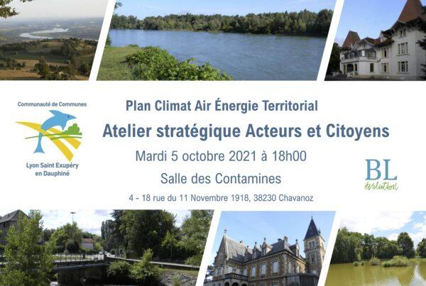 Invitation à l'atelier stratégique climat, air énergie